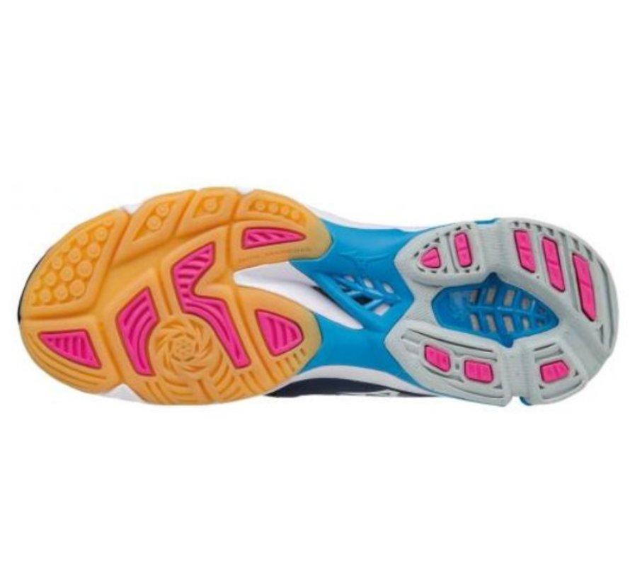 Mizuno Wave Lightning Z3 blauw fuchsia volleybalschoenen dames