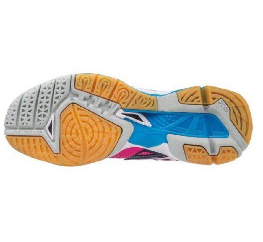 Mizuno Wave Tornado X roze blauw volleybalschoenen dames