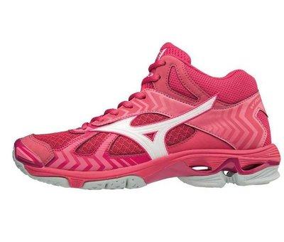Mizuno Mizuno Wave Bolt 7 Mid roze volleybalschoenen dames