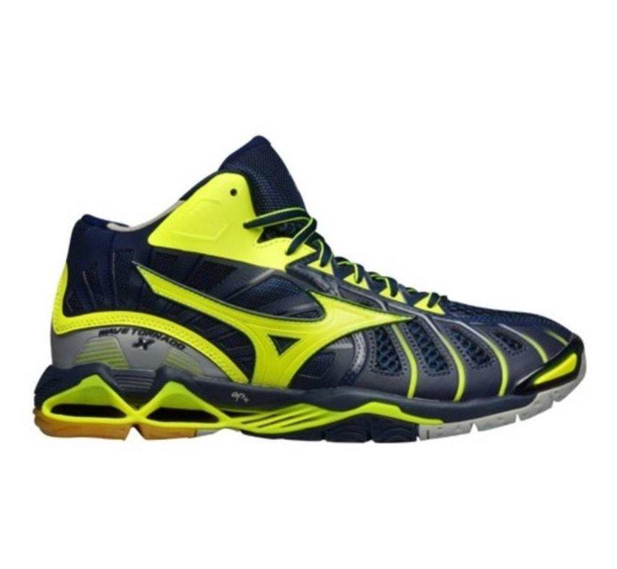 Mizuno Wave Tornado X Mid geel volleybalschoenen heren (V1GA1617-47)