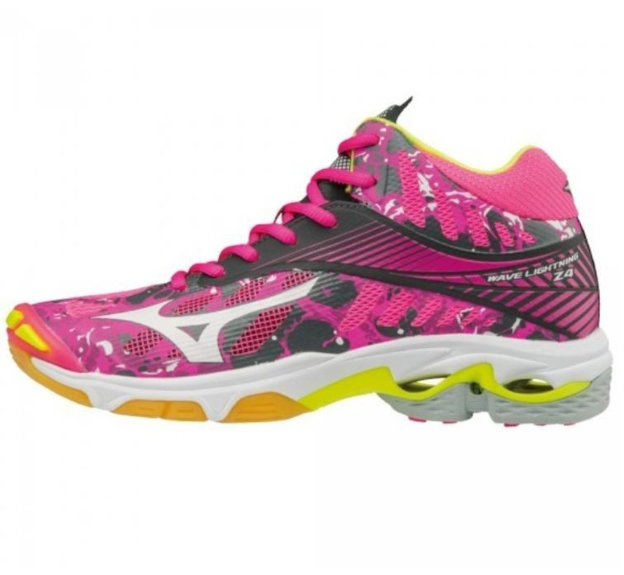 Mizuno Wave Lightning Z4 Mid roze volleybalschoenen dames