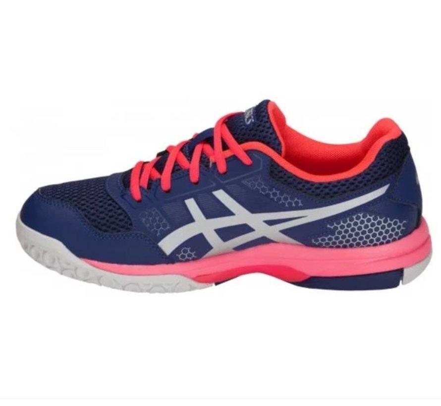 ASICS Gel Rocket 8 blauw roze volleybalschoenen dames