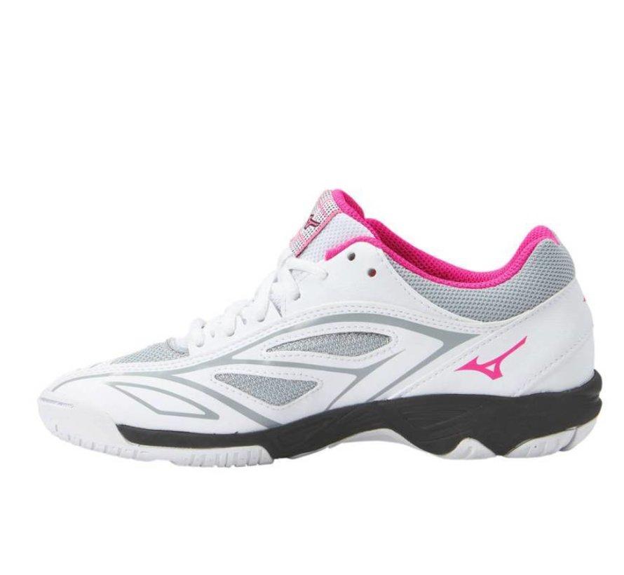 Mizuno Mirage Star 2 Jr wit roze handbalschoenen meisjes