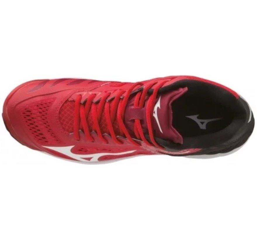Mizuno Wave Lightning Z5 Mid rood zwart volleybalschoenen unisex