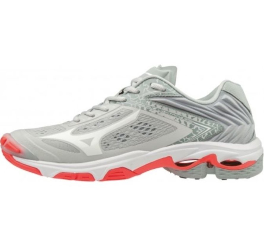 Mizuno Wave Lightning Z5 licht grijs volleybalschoenen dames