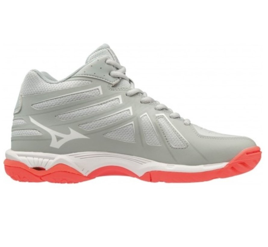Mizuno Wave Hurricane 3 Mid grijs volleybalschoenen dames