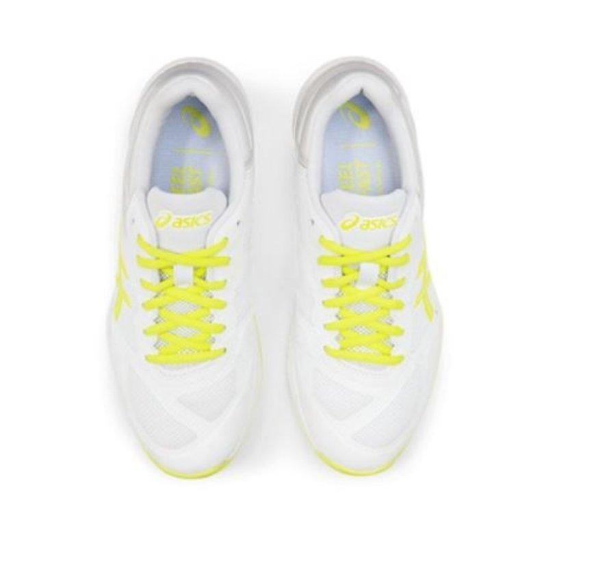 ASICS Netburner Ballistic FF wit geel volleybalschoenen dames