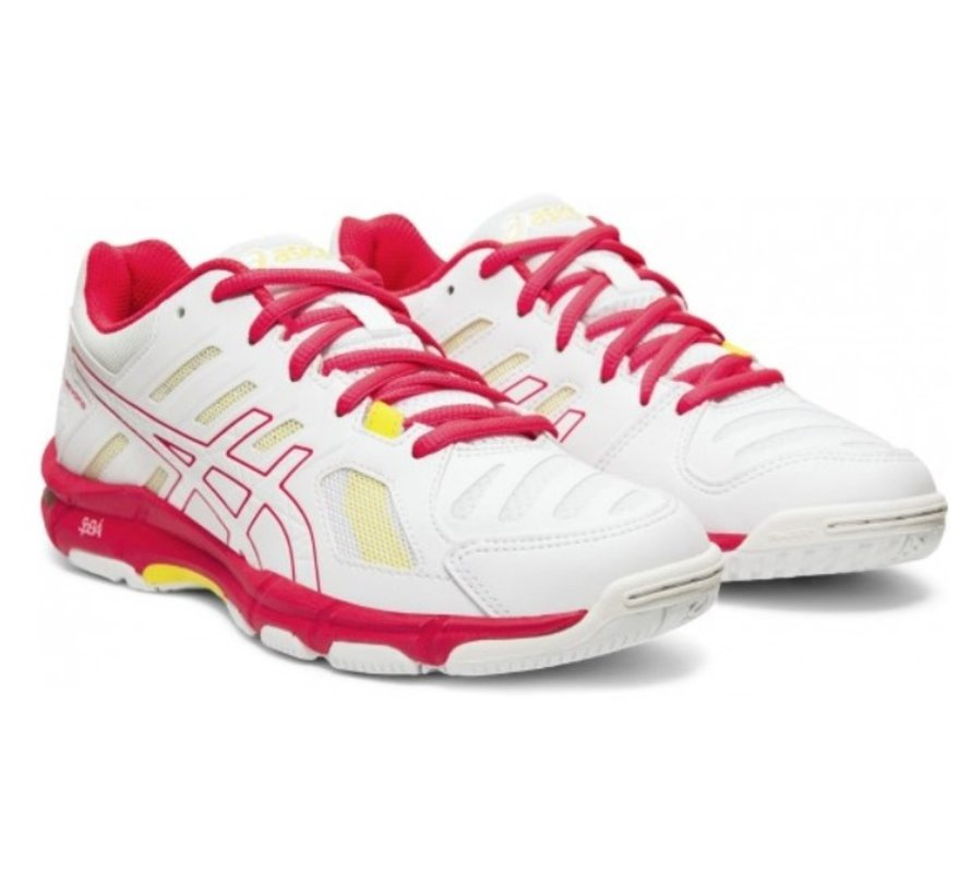 ASICS Gel Beyond 5 wit roze volleybalschoenen dames