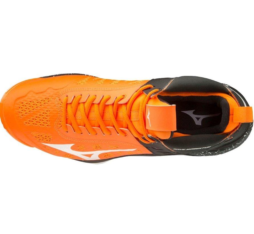 Mizuno Wave Momentum Mid oranje zwart volleybalschoenen unisex