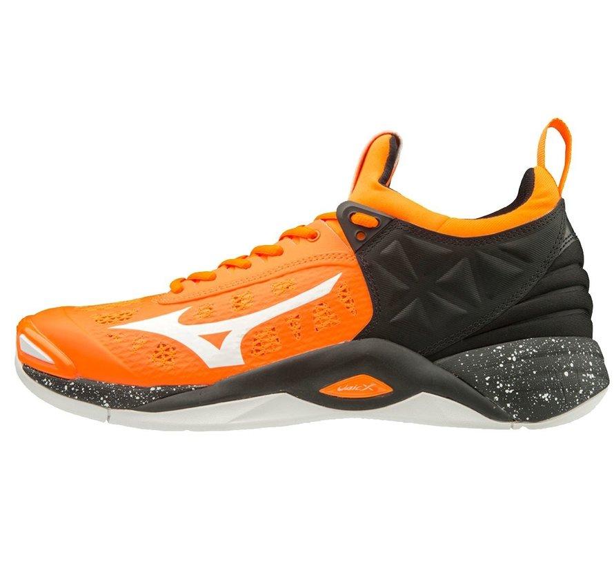 Mizuno Wave Momentum oranje zwart volleybalschoenen