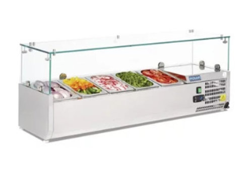 Polar Vitrine à ingrédients réfrigérée | 5x | GN1/4