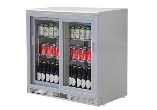 Polar Arrière-bar gris argent | 180 bouteilles