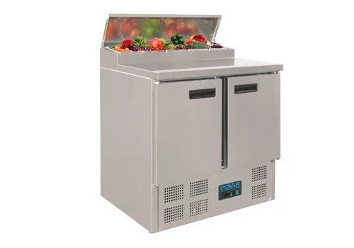 Polar Comptoir de préparation réfrigéré pizzas salades   254L