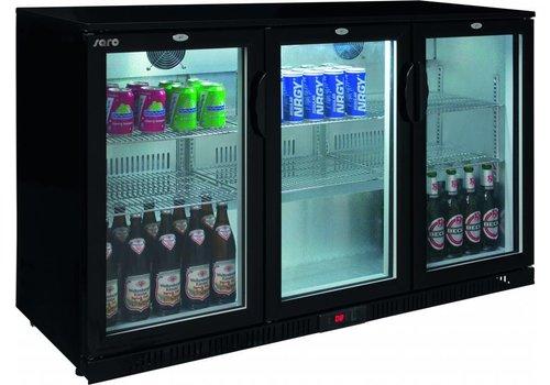 ProChef Arrière de bar | noir | 3 portes | 135x52x85 cm | Modèle bas