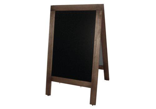 Olympia Tableau noir en bois sur le trottoir | 70x (H) 120cm