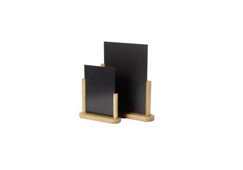 Securit Ardoise de table  | en teck | 21x30cm