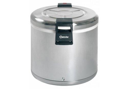 Bartscher Réchauffeur de riz Acier inoxydable 110 Watt 8,5 kg de riz   395 mm, hauteur 372 mm