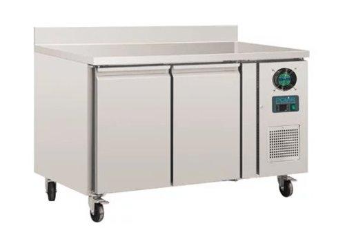Polar Table réfrigérée négative | 2 Portes avec dosseret | 282L