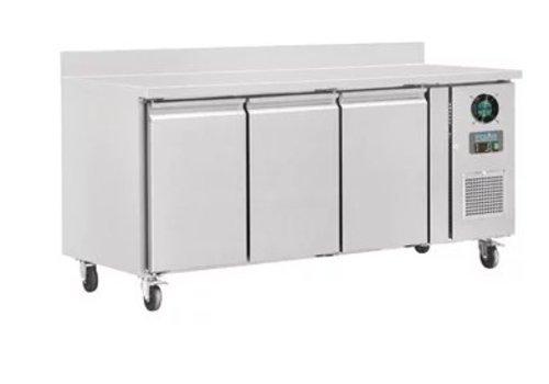 Polar Table réfrigérée négative | 3 Portes avec dosseret | 417L