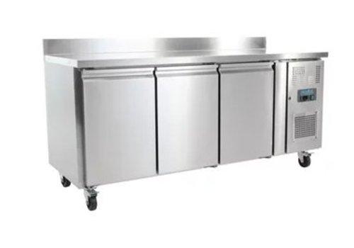 Polar Table réfrigérée | 3 Portes avec dosseret | 417L