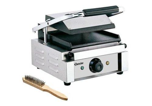 Bartscher Grill contact 1800 1G | 1,8 kW | 290 x 395 x 210 mm | 50 °C a 300 °C | Acier inoxydable