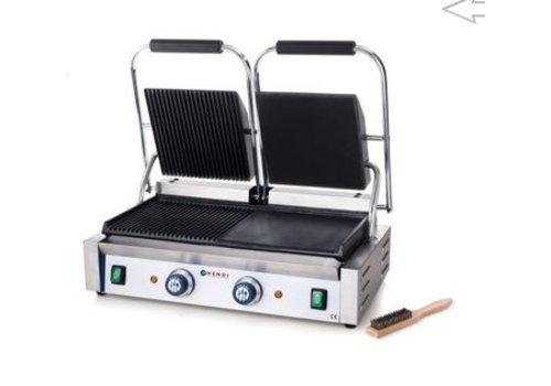 Hendi Grill de contact - Modele double   jusqu'à 300 °C