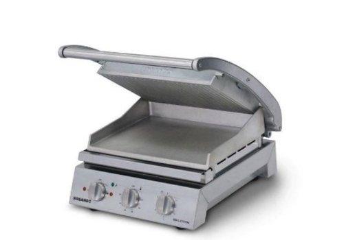Roband Station de grillage pour 6 sanwichs, plaque superieur solide | 2 200 W | 435 x 490 x 220 mm