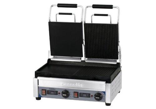 Casselin Grill panini double premium mixte avec minuteur   L 490 x P 520 x H 265 mm   2 900 W   de 60°C à 300°C