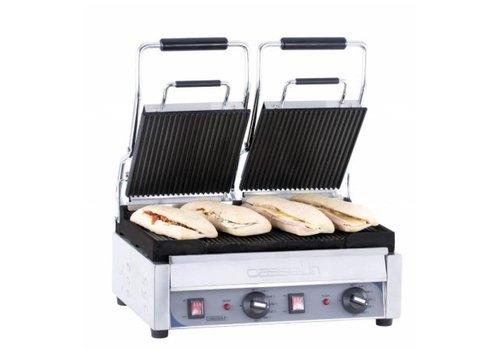 Casselin Grill Panini double Premium Rainurée - Rainurée   L 490 x P 520 x H 265 mm   2 900 W   de 60°C à 300°C