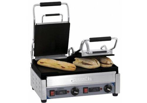 Casselin Grill panini double premium lisse - lisse avec minuteur
