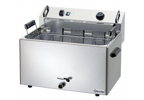 Bartscher Friteuse à Beignets Électrique Inox + Vanne de Vidange | 16 Litres | L 560 x P 470 x H 400 mm | 9 kW