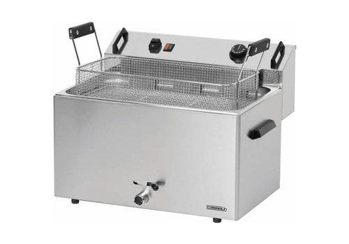 Casselin Friteuse à Beignets Électrique | 16L | de 50°C à 190°C | 9 000 kW | L 540 x P 450 x H 370 mm