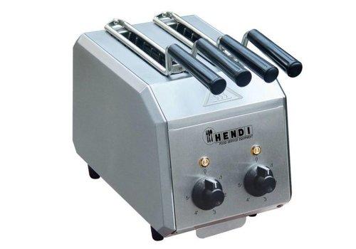 Hendi Toaster | Minuteur réglable avec alarme jusqu'à 8 minutes | Tiroir pour miettes