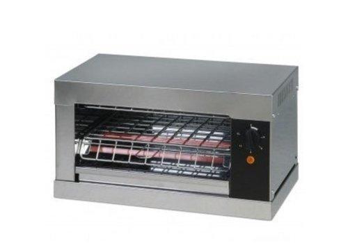 Saro Grille-pain avec des éléments de quartz | L 440 x P 260 x H 250 mm | 2 kW | en acier inoxydable
