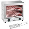 Bartscher Appareil toaster/gratiner, double | 3 kW | 440 x 260 x 400 mm | Acier inoxydable
