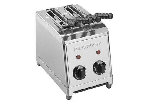 Milan Toast  Acier inoxydable Tosti Appliance 2 pinces