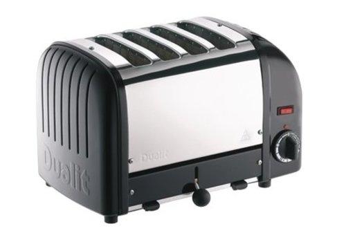Dualit Grille-pain 4 tranches noir Vario | 220(H) x 360(L) x 210(P)mm | 2,2 kW