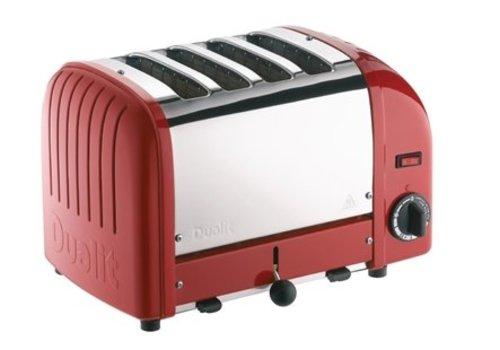 Dualit Grille-pain 4 tranches rouge Vario | 220(h)x 360(l)x 210(p)mm | 2,2 kW