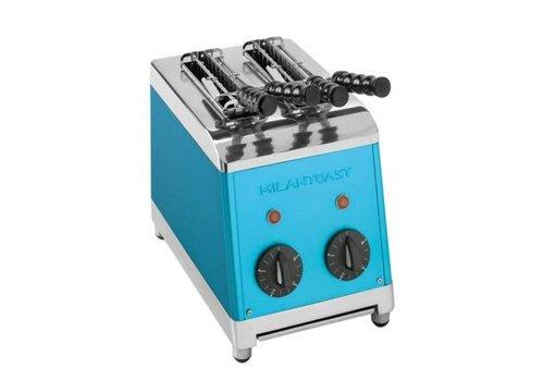Milan Toast  Grille-pain avec 2 tranches bleu Poli   230 V