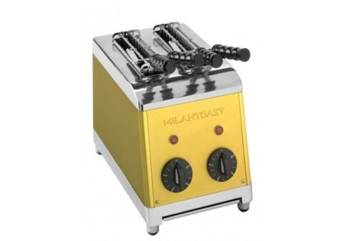 Milan Toast  Grille-pain avec 2 tranches or Poli | 230 V