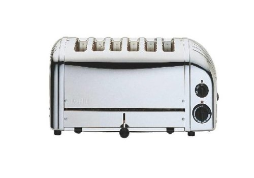 Dualit Grille-pain 6 tranches inox Vario | 210(h) x 460(l) x 220(p)mm | 3 kW