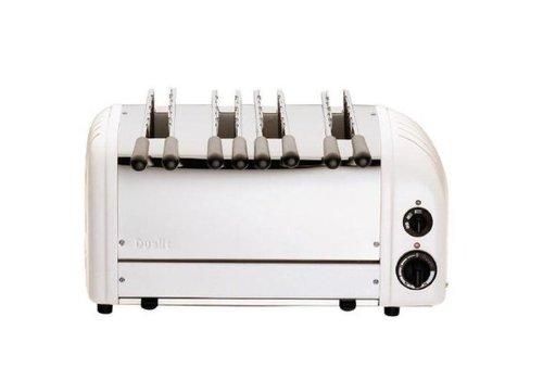 Dualit Toaster à sandwich 4 fentes blanc | 210(h) x 460(l) x 220(p)mm | 2,7 kW