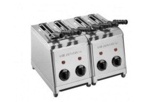 Milan Toast  grille-pain avec 4 pinces | 370 x 300 x 300 mm | 2,4 kW