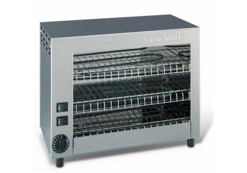 Milan Toast  Milan Toast Grille-pain professionnel en acier inoxydable | 9 pinces | 2,7 kW | 430x230x350 mm | en acier inoxydable