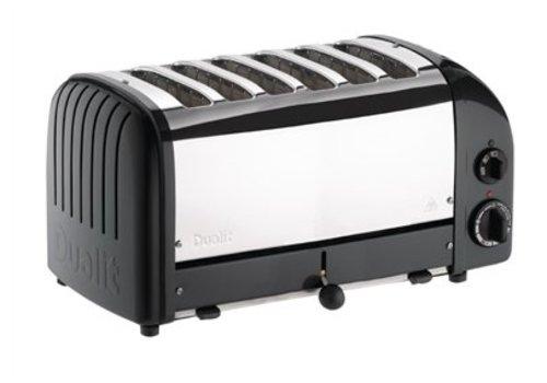 Dualit Grille-pain 6 tranches noir Vario | 210(h) x 460(l) x 220(p)mm | 3 kW
