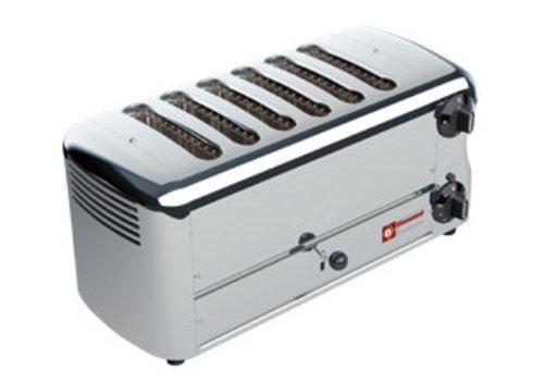 Diamond Toaster (grille-pain) électrique 6 tranches | 455 x 220 x h210 mm | 3,3 kW