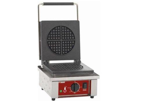 Diamond Gaufrier électrique pour 4 éventails gaufrés | 0 à 300°C | en acier inoxydable