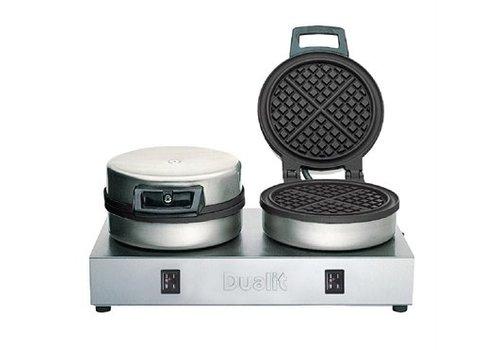Dualit Gaufrier double | 190(H) x 400(L) x 220(P)mm | 1,6 kW