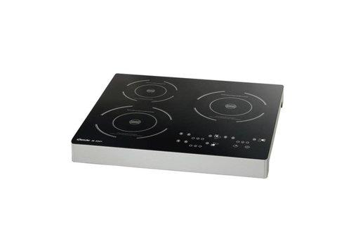 Bartscher Plaque à induction, 3 plaques | 3.4 kW