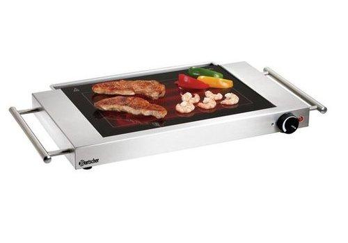 Bartscher Plaque grill   vitrocéramique   640x365x63mm